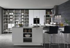 Cocina Tendencias 2014 Blanco y negro  Trends 2014 Black and white Siematic 8008 #siematic #black&white #trends #cocina #kitchen