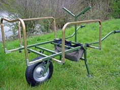 NEW-Cyprinus-Carp-Fishing-Wheel-Barrow-Trolley-With-Rod-Porter-Bag