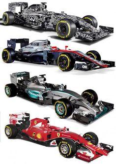 2015 F1 Cars Comparo - Infiniti RB11 vs McLaren-Honda MP4-30 vs AMG W06 vs Ferrari SF15T 37
