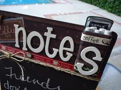 Altered Artworks: Coffee Notes [Altered Chalkboard]
