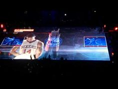 Sixers 3D court projection - YouTube