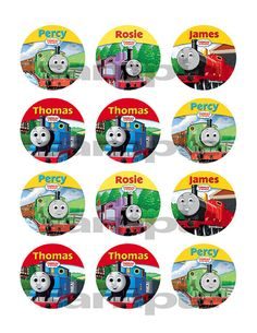 Thomas the Train II Edible Image Frosting Sheet by customicing, $9.50
