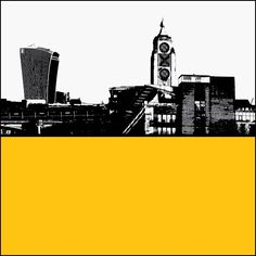 OXO Tower and Walkie Talkie Building Cityscape Print - The Art Rooms