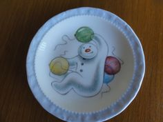 1985 Royal Doulton The Snowman Gift Collection Balloons Plate  Made in  England