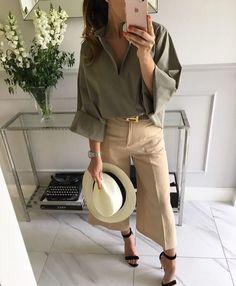 Comfy fashion#khaki SORRENTO #blouse #Miint Label #style #stylish #instagram #instafashion #look #mood