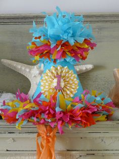 Birthday Party HatThe Brooke Party Hat in by silverspoonscraps, $24.00