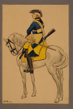 Västgöra regiment of horse by Einar von Strokirch