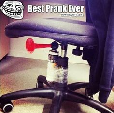 Happy April Fools Day 2014 Best Pranks Ideas with Office Chair Harmless Pranks, Evil Pranks, Funny Pranks, Awesome Pranks, Scary Pranks, Funny Office Pranks, School Pranks, Funniest Pranks, Lol