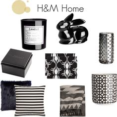 cute black & white home accessories at H & M Home!