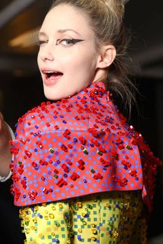 Mary Katrantzou. The top of the famous 'Pencil' dress. Embroidery worked in the Lesage atelier.