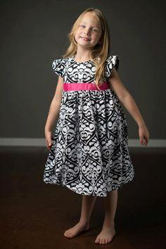 Girls Flutter Dress Sewing Pattern Girls Dress by littlelizardking
