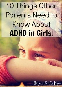 10 things other parents need to know about ADHD in girls. Insightful, empowering and educational article written by a mother with ADHD about her daughter with ADHD.