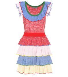 ALEXANDER MCQUEEN Wool And Silk Dress. #alexandermcqueen #cloth #current week