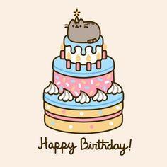 =^● ⋏ ● ^= Pusheen the cat - Happy Birthday! Gato Pusheen, Pusheen Love, Pusheen Birthday, Cat Birthday, Funny Birthday, Birthday Gifs, Birthday Cake, Chat Kawaii, Funny Happy Birthday Wishes