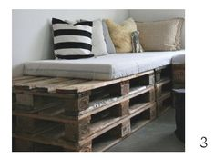 Pallets into beds