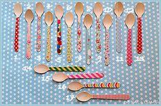 17 modelos de cucharitas de madera decoradas (11 cms) Pedidos y catálogo: detallisime@yahoo.es