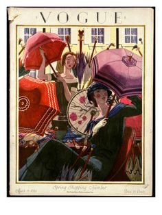 Vogue Cover - March 15 1924 Poster Print by Pierre Brissaud at the Condé Nast Collection