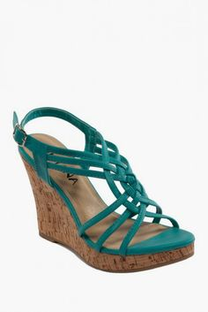 Kiss  Tell Kealie Slingback Woven Wedge Sandal