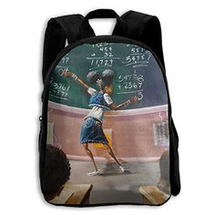 School Backpack African American Student Travel Bags Bookbag For Kids f48e32a6d729f
