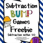 Subtraction Bump Games Freebie