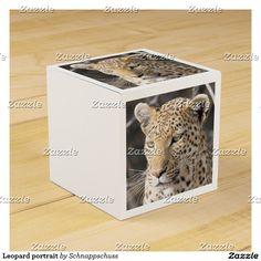 Leopard portrait favor box