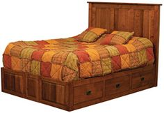 Made to Order Handcrafted Furniture with Your Choice of Hardwoods and Over 50 Finishes - Escalade: Bookcase Headboard only - Bed - Buckeye Amish Furniture Mission Furniture, Amish Furniture, Furniture Direct, Simple Furniture, Selling Furniture, Solid Wood Furniture, Furniture Making, Bedroom Furniture, Storage Bed Queen