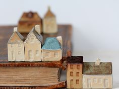pottery houses by Moonpenny pottery . Tasmania.