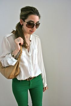 zara blouse and green skinnies (seen here), another line leopard belt, gucci tortoise sunglasses, h&m ring, kate spade earrings (up close here), prada wedges (up close here), vintage hobo bag (stolen from mommy)