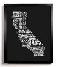 Hey, I found this really awesome Etsy listing at http://www.etsy.com/listing/107562973/cities-of-california-typography-collage