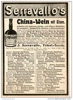 Original-Werbung/Inserat/ Anzeige 1902 - SERRAVALLOS CHINAWEIN MIT EISEN ca.130 x 90 mm