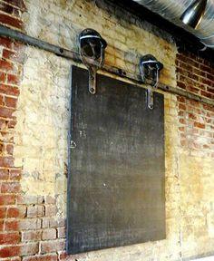 Blackboard Menu on Industrial Door Hardware