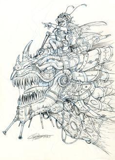 SteamP dragon by Capia.deviantart.com on @DeviantArt
