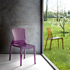 beautiful Crystal stacking chairs!