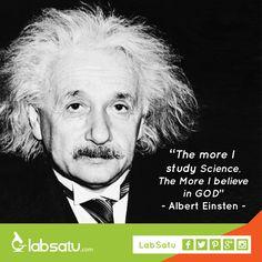 -Ilmu pengetahuan seharusnya mendekatkan dirimu pada Tuhan- Semangat menjalankan ibadah puasa! #LabSatu #quoteoftheday #quotes #science #einsten