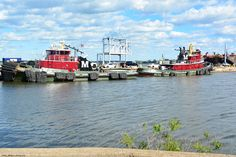 Tugs on the Delaware River at the Navy Yard.