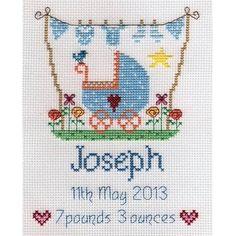 image of New Baby Boy Cross Stitch Kit