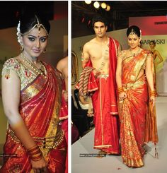 Actress Sneha Bridal Look: Swarovski Studded Kanjivaram Saree and Kundan Jewellery/Saree Belt  Her wedding is in March and we'll be sure to breakdown her look: http://www.modernrani.com