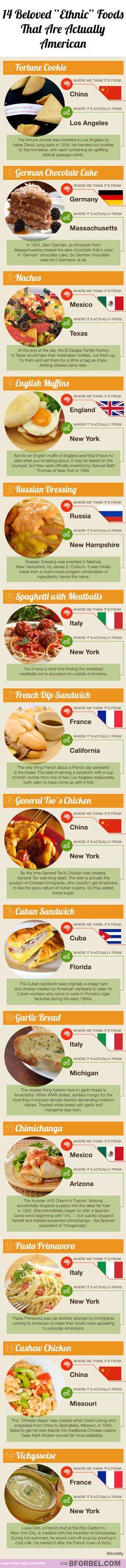 """14 beloved """"ethnic"""" foods that are actually American"""