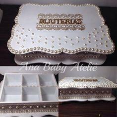 Porta bijuterias | mdf | decoradas | personalização | pérolas | artesanato