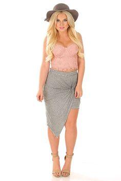 Back To Lace Crop Top: Blush #shophopes