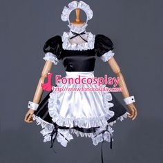 French Carnival Phantasm Saber Sissy Maid Dress Cospaly Costume Custom-Made[G. Game Costumes, Cosplay Costumes, Mascot Costumes, Cosplay Outfits, French Maid Dress, Sissy Boy, Sissy Maids, Maid Uniform, Maid Outfit