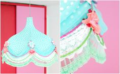 Red blue and pink vintage