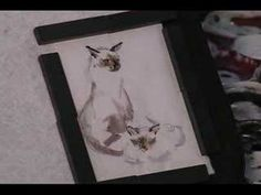 Siamese Cats Watercolor ACEO sold on eBay