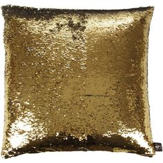 Aviva Stanoff Two Tone Mermaid Sequin Cushion - Silver/Gold - 50x50cm ($330) ❤ liked on Polyvore featuring home, home decor, throw pillows, pillows, metallic, gold toss pillows, handmade home decor, silver throw pillows, silver accent pillows and silver home accessories