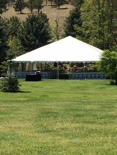 Offsite ceremony tent