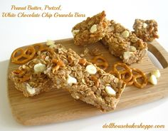 Lindsay Ann Bakes: No-Bake Peanut Butter Pretzel White Chocolate Granola Bars (no-bake, dairy-free, egg-free, with gluten-free and peanut-free options!)