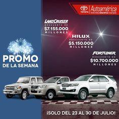 ¡Llévate uno de estos espectaculares #ToyotaAutoamérica ! Soló del 23 al 31 de julio, más información: http://ww0.autoamerica.com.co/promo-de-la-semana/