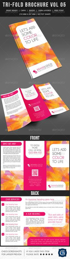 Corporate Multipurpose Trifold Brochure Vol 5 by GBJsolution GENERAL DESCRIPTION This tri-fold double sided Corporate Multipurpose Brochure is suitable for any kind of large or small business