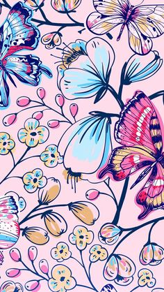 Spring Print ★ Download more floral iPhone Wallpapers at @prettywallpaper