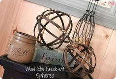 Industrial Wood and Metal Spheres {West Elm knock off} Best Embroidery Machine, Free Machine Embroidery Designs, Diy Arts And Crafts, Diy Crafts, Creative Crafts, Embroidery Hoop Decor, Knock Off Decor, Orb Light, Le Far West